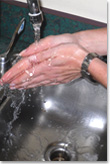 Swine Flu wash your hands picture